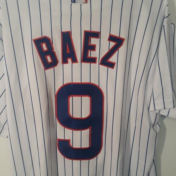 the latest 7c055 2420f Javier Baez Chicago Cubs majestic jersey sz. L Boutique